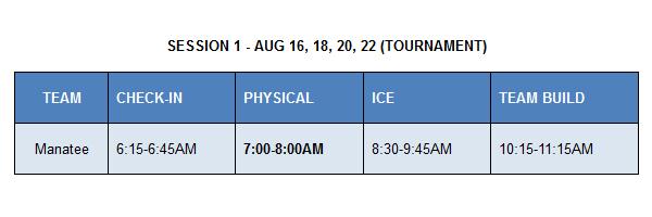 Manatee Admirals & Tampa Bay Lightning High School Hockey Clinic