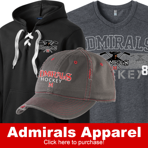 Order your admirals apparel clothing hats sweatshirts and more!
