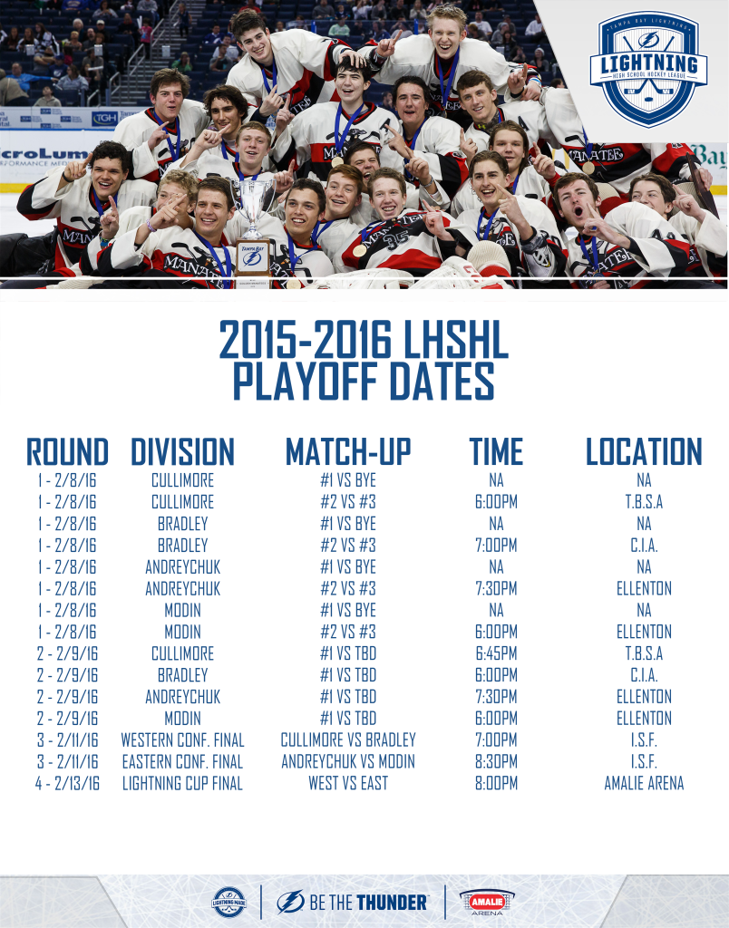Lightning High School Playoffs for the 2015-2016 season