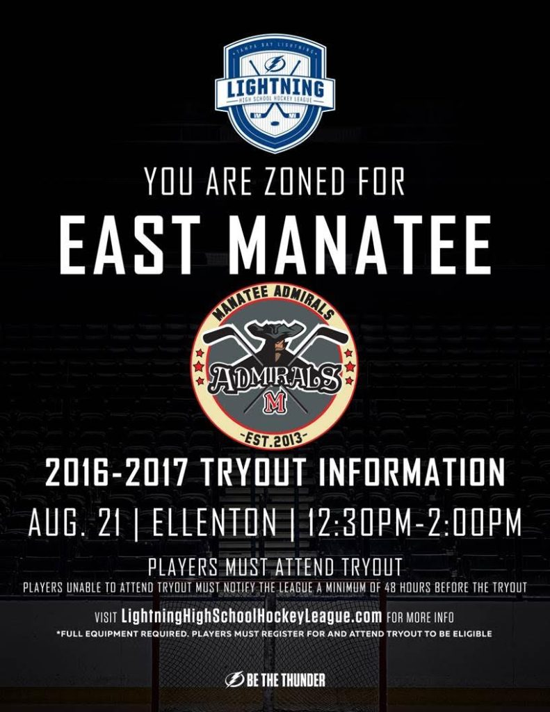 East Manatee Tryout Dates for 2016-2017